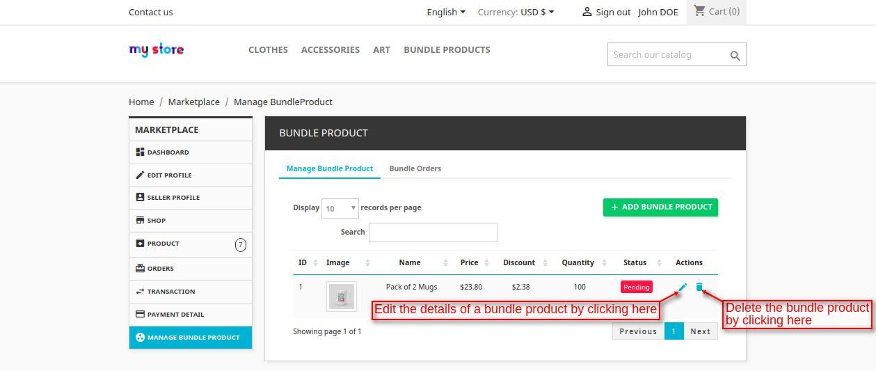 view bundle product