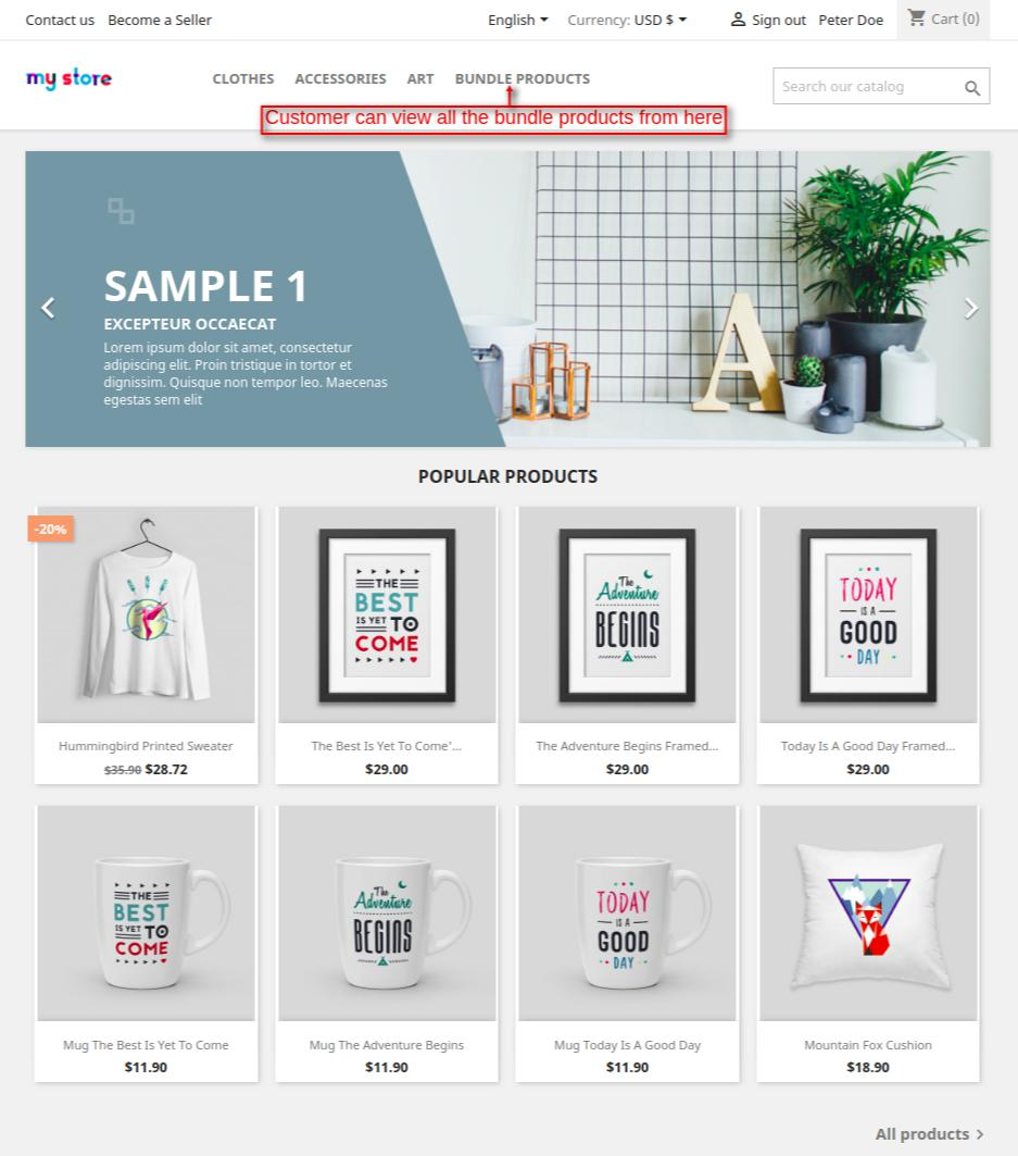 bundle products category