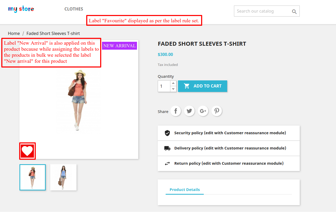 impact of rule on product page
