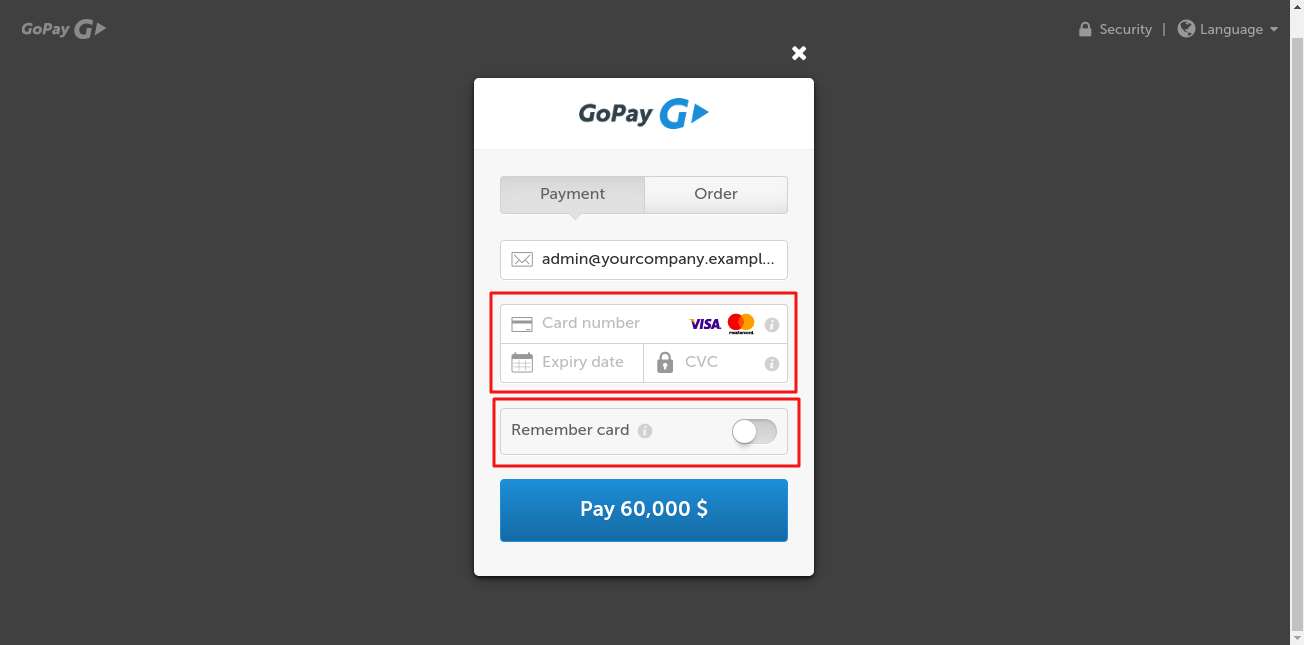 Using GoPay Payment On Odoo Website 3