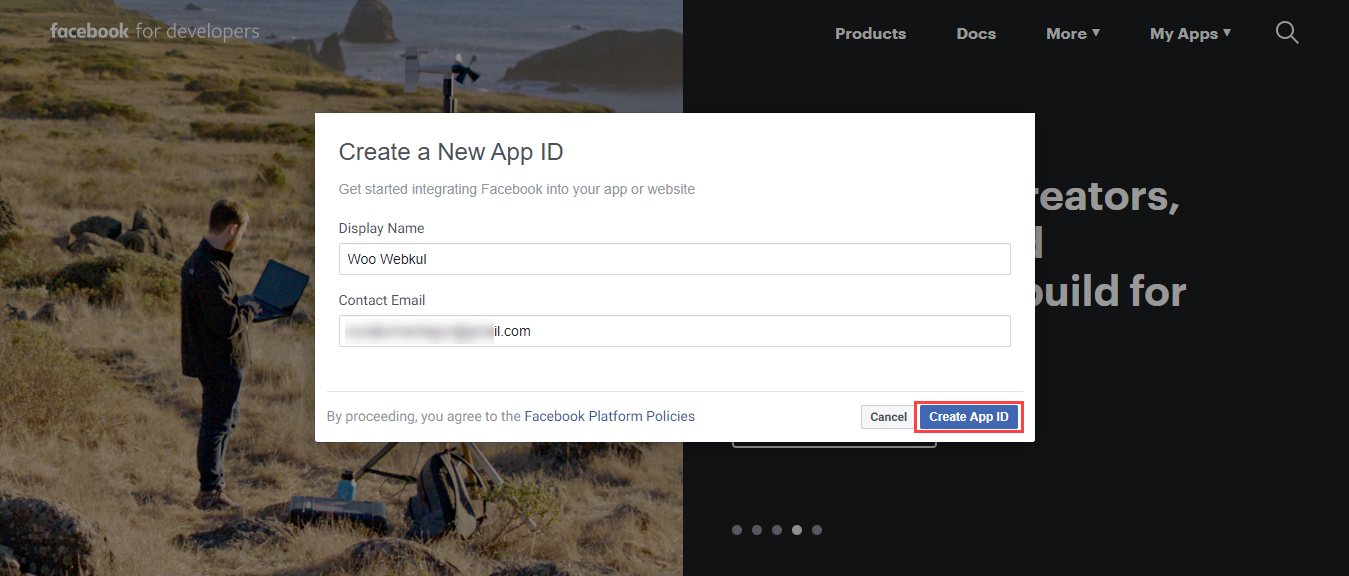 Webkul-Facebook-Messanger-Chat-for-WooCommerce-Create-New-App-ID