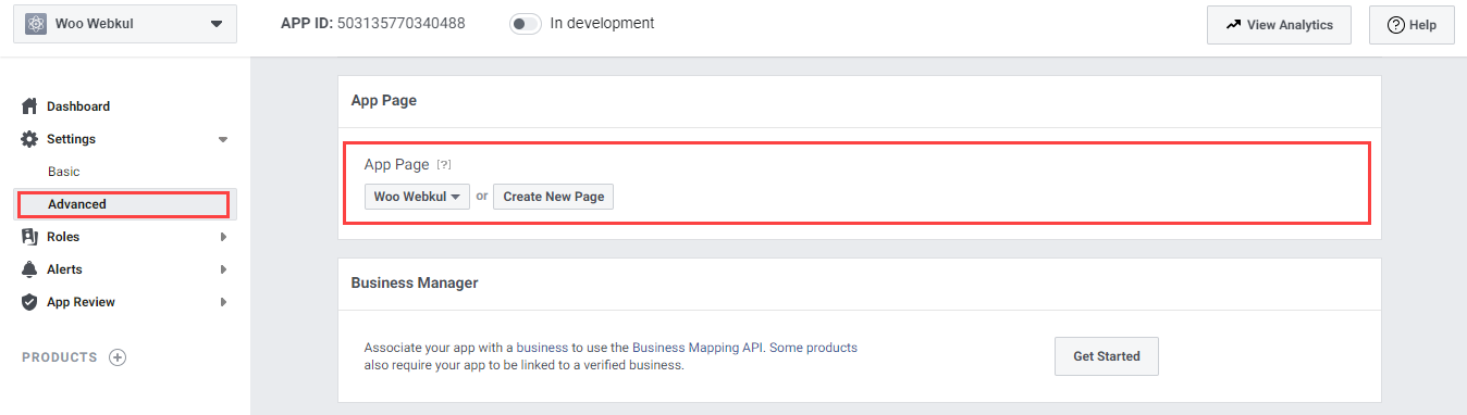 Webkul-Facebook-Messanger-Chat-for-WooCommerce-Create-New-Page-or-Select