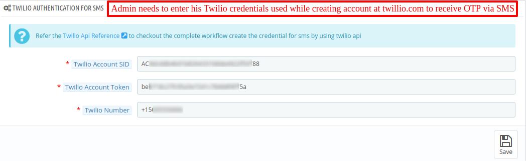 Twilio credentials