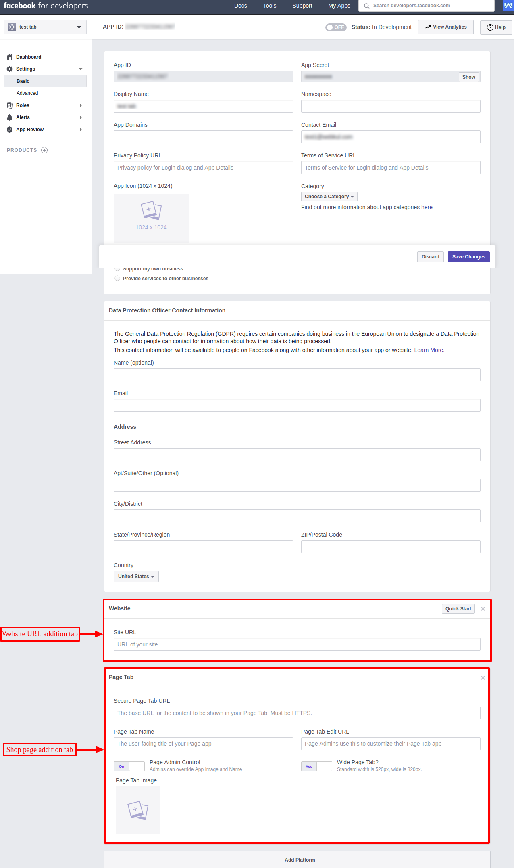 Define web & Page details