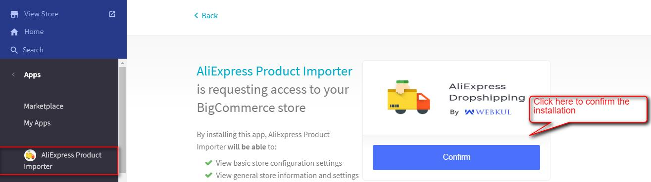 confirm-the-installation-of-BigCommerce-AliExpress-application