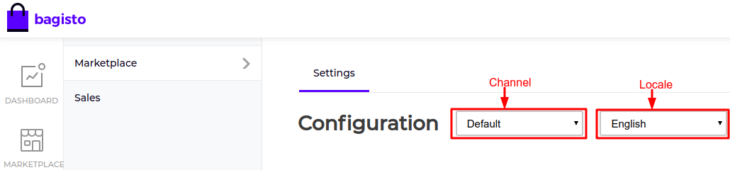 Marketplace Channel Config