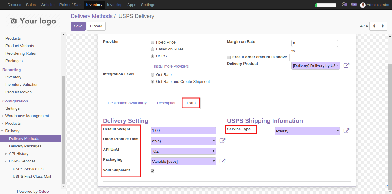 Intergrating USPS shipping with Odoo 6
