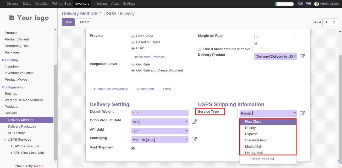 Odoo USPS Shipping Integration | Integrate USPS with Odoo