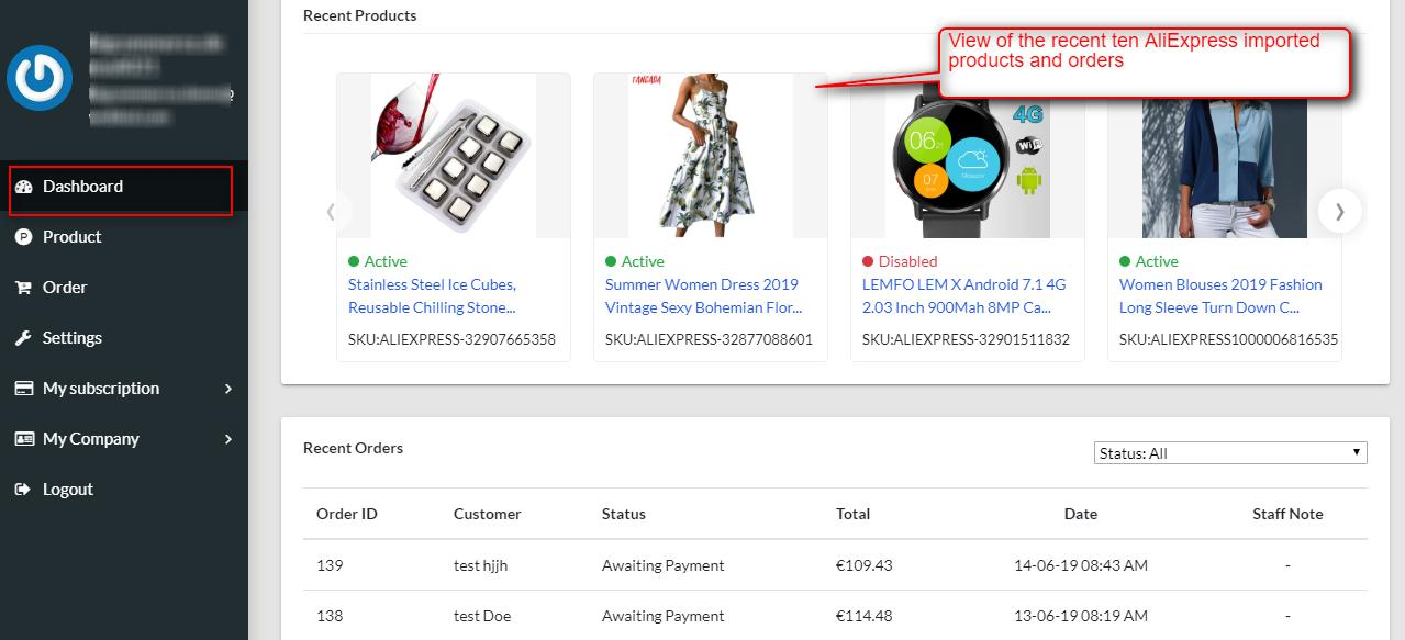 dashboard-of-BigCommerce-AliExpress-Dropshipping