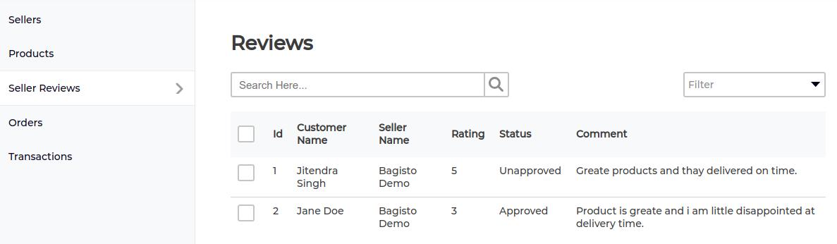 marketplace seller reviews