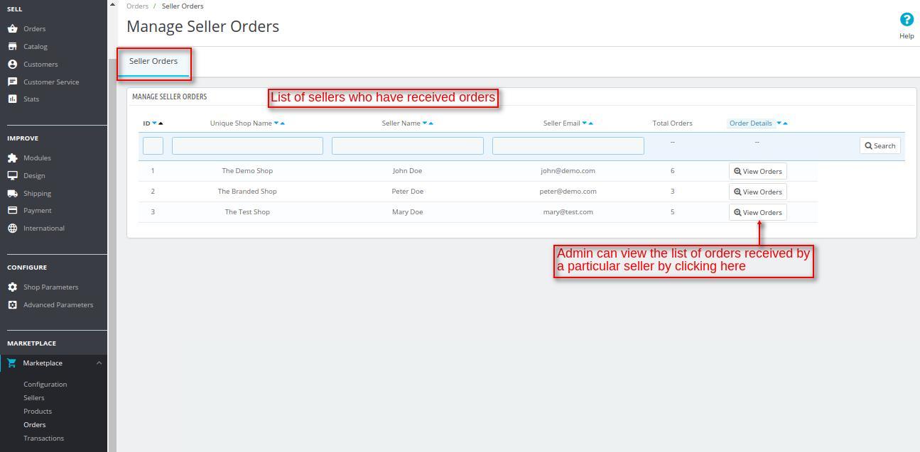 seller orders