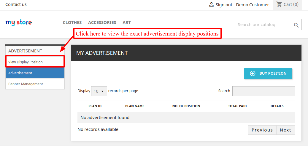 ads position