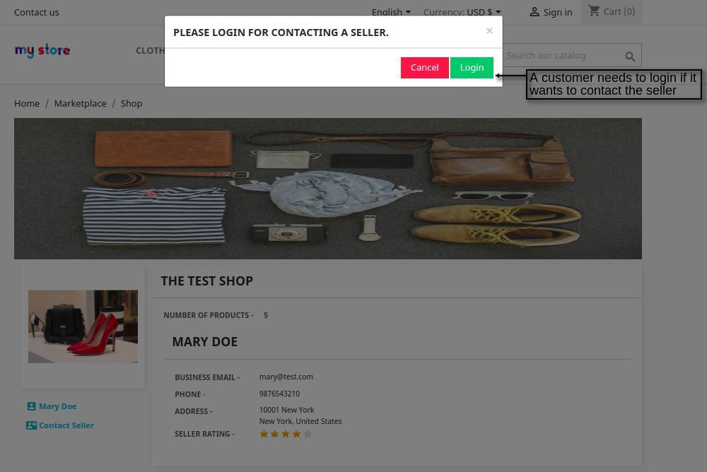 contact seller