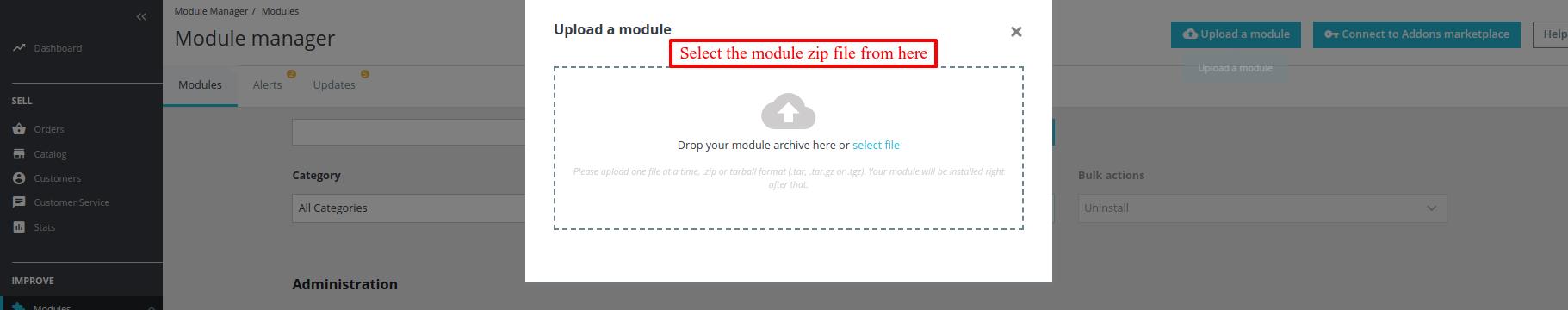 Select module file