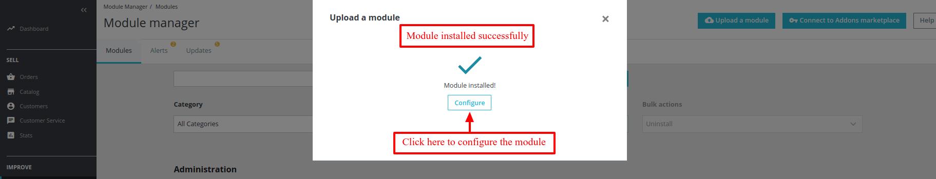 Module installed