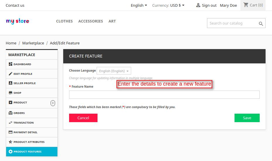 create new feature