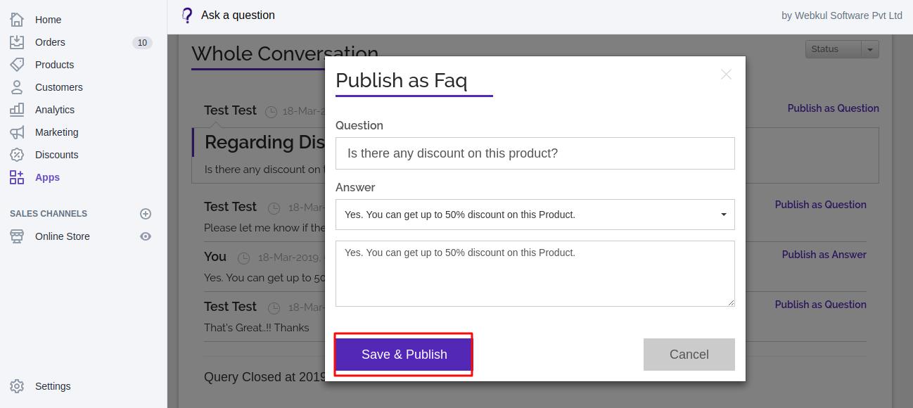 publish FAQs