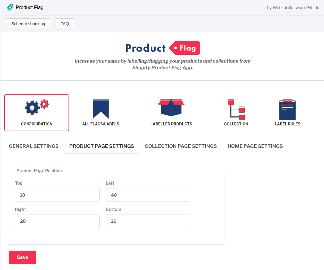 product flag