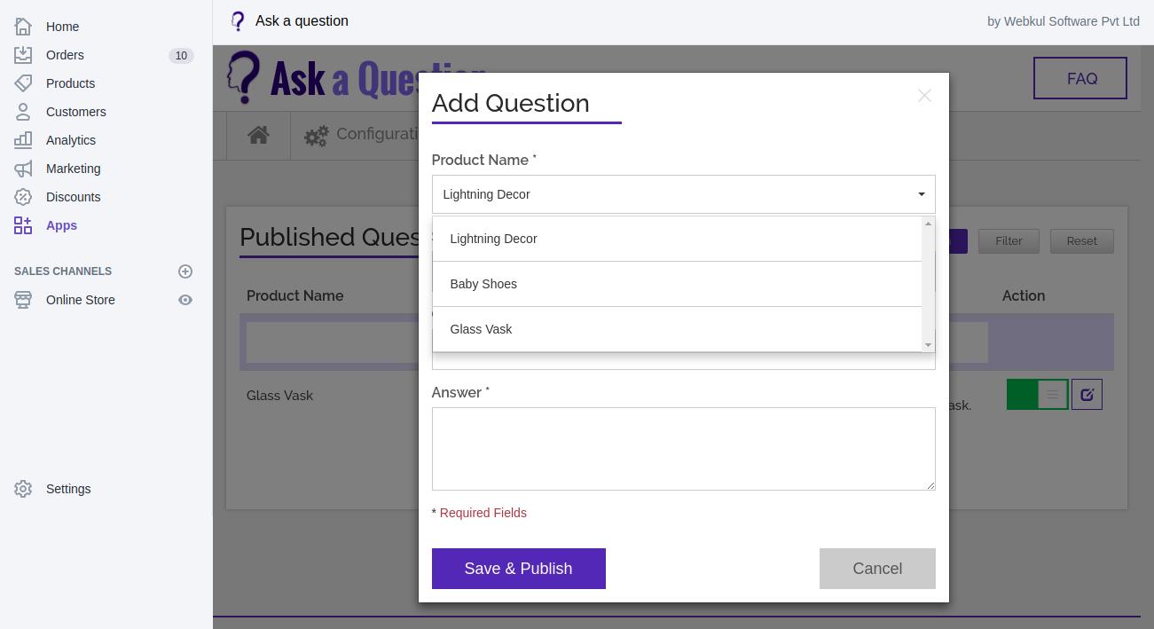 add questions