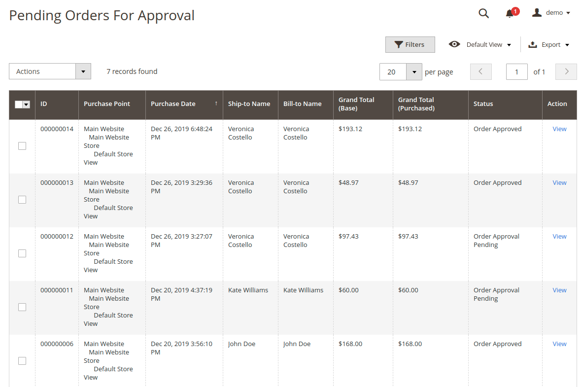 webkul-magento2-order-approval-rules-admin-orders-approved-1