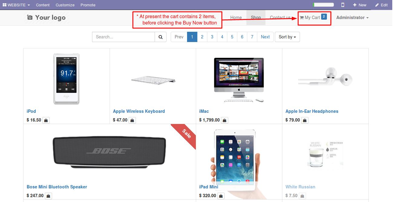 Enabling Buy Now option in Odoo website 4