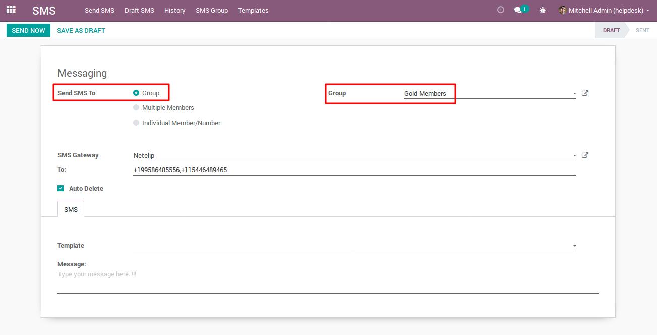 Sending Bulk SMS with Netelip SMS gateway 1