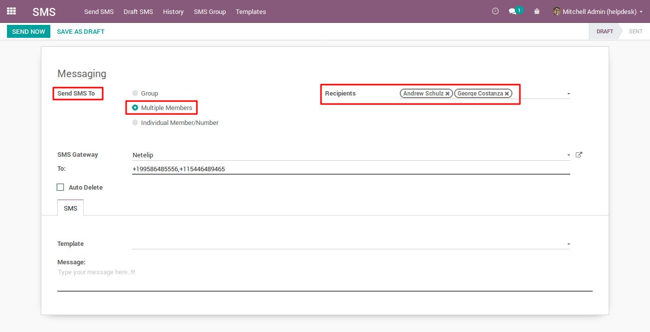 Sending Bulk SMS with Netelip SMS gateway 2