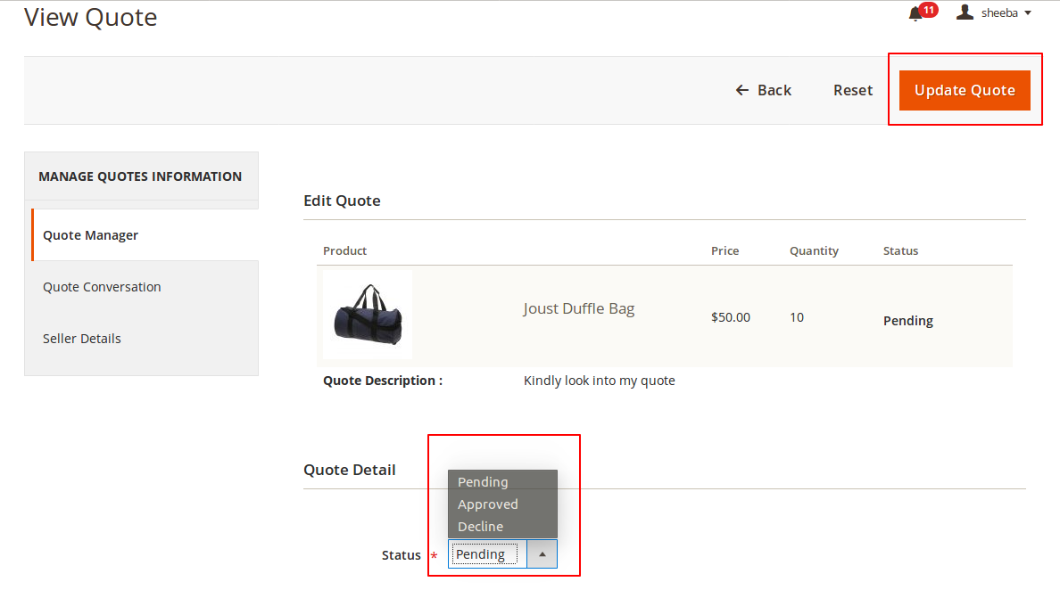 Magento 2 purchase order Wholeasaler View Quote