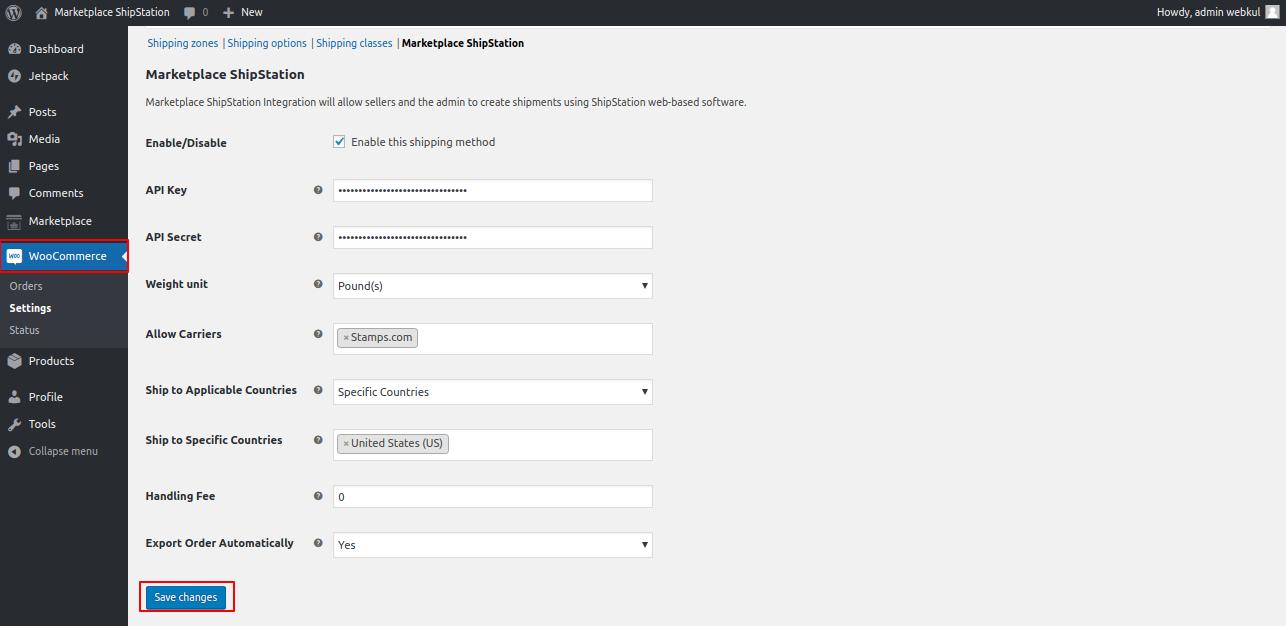 WooCommerce settings ‹ Marketplace ShipStation — WordPress