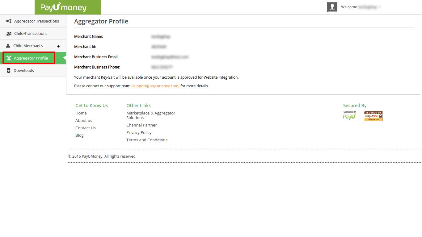 aggregator profile