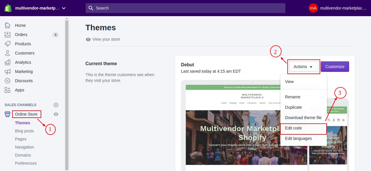 multivendor marketplace 4 Themes Shopify