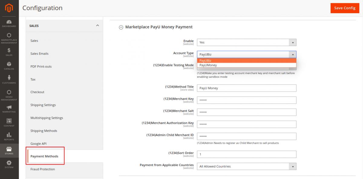 webkul-magento2-marketplace-payumoney-payment-gateway-module-configuration