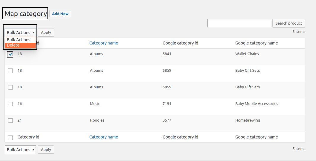 woo Google shopping feed delete