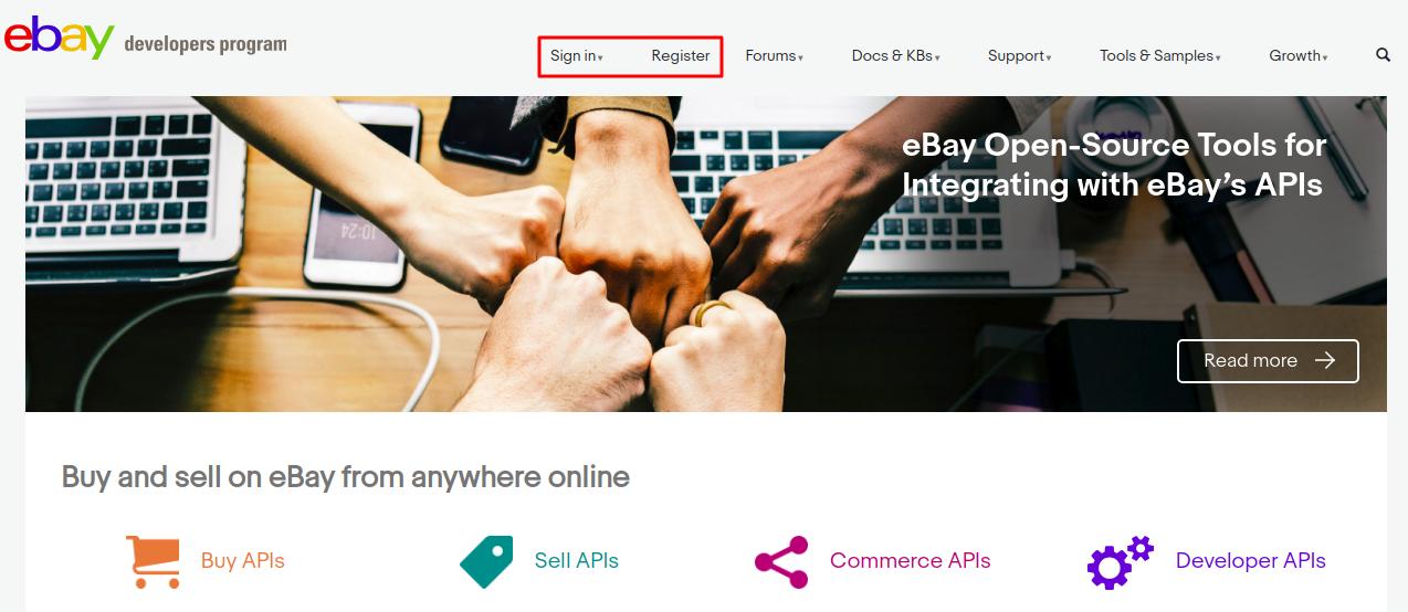 developers program e-bay