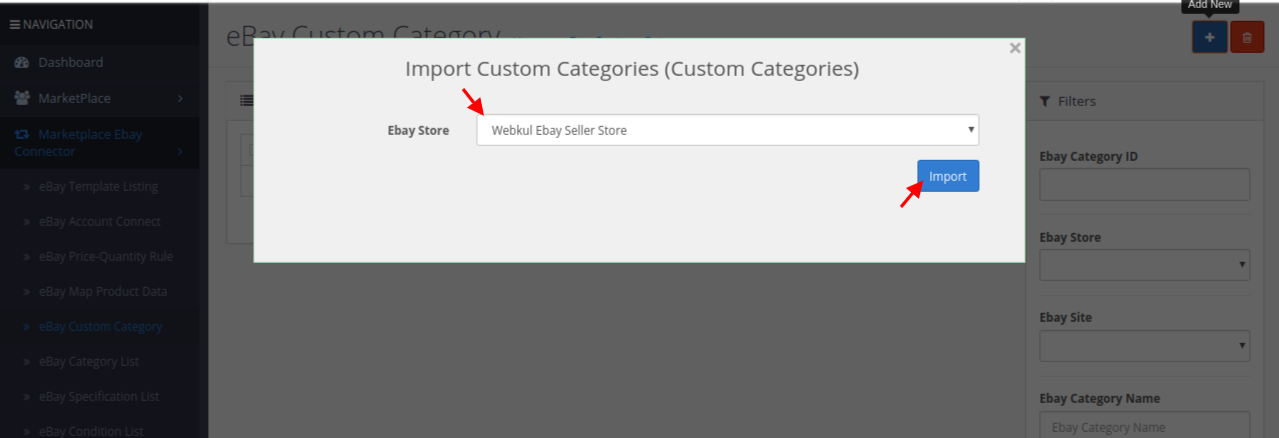 import custom category
