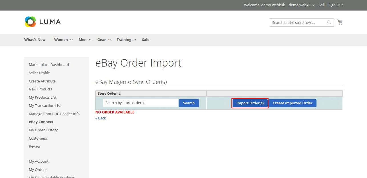 import orders