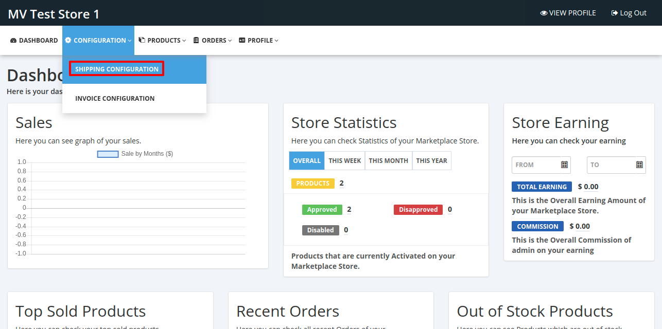Dashboard Seller • Multivendor MarketPlace \(1\)