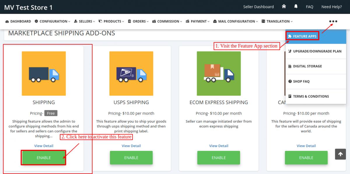 Multi-vendor-Shipping Feature