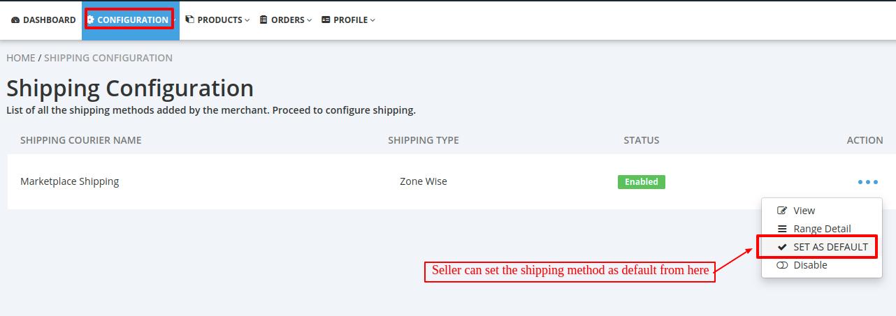 seller shipping