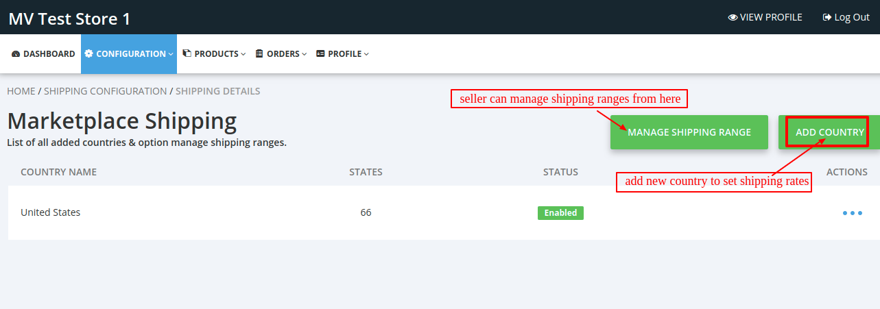 Shipping Details Seller • Multivendor MarketPlace \(5\)