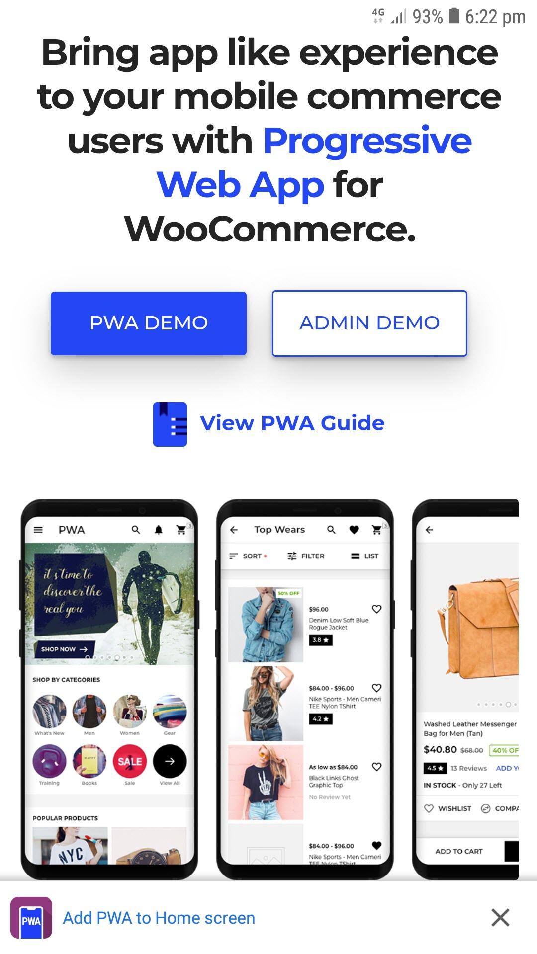 progressive web app for woocommerce add_pwa_to_home_screen