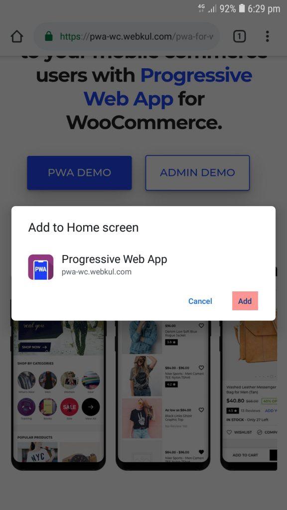 progressive web app for woocommerce pwa woocommerce mobile app