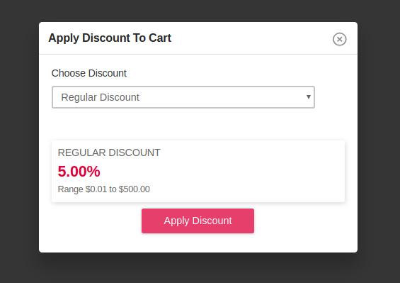 apply discount