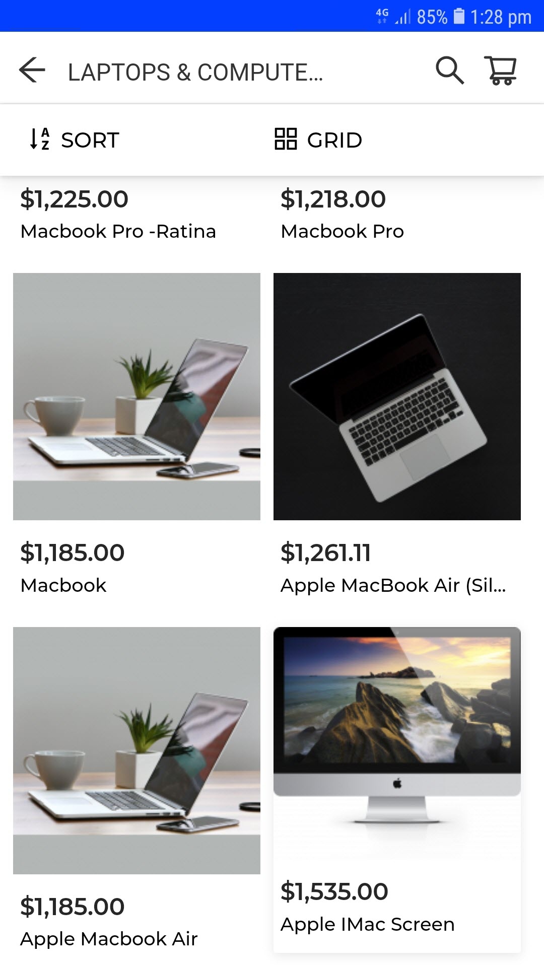 progressive web app for woocommerce category_section