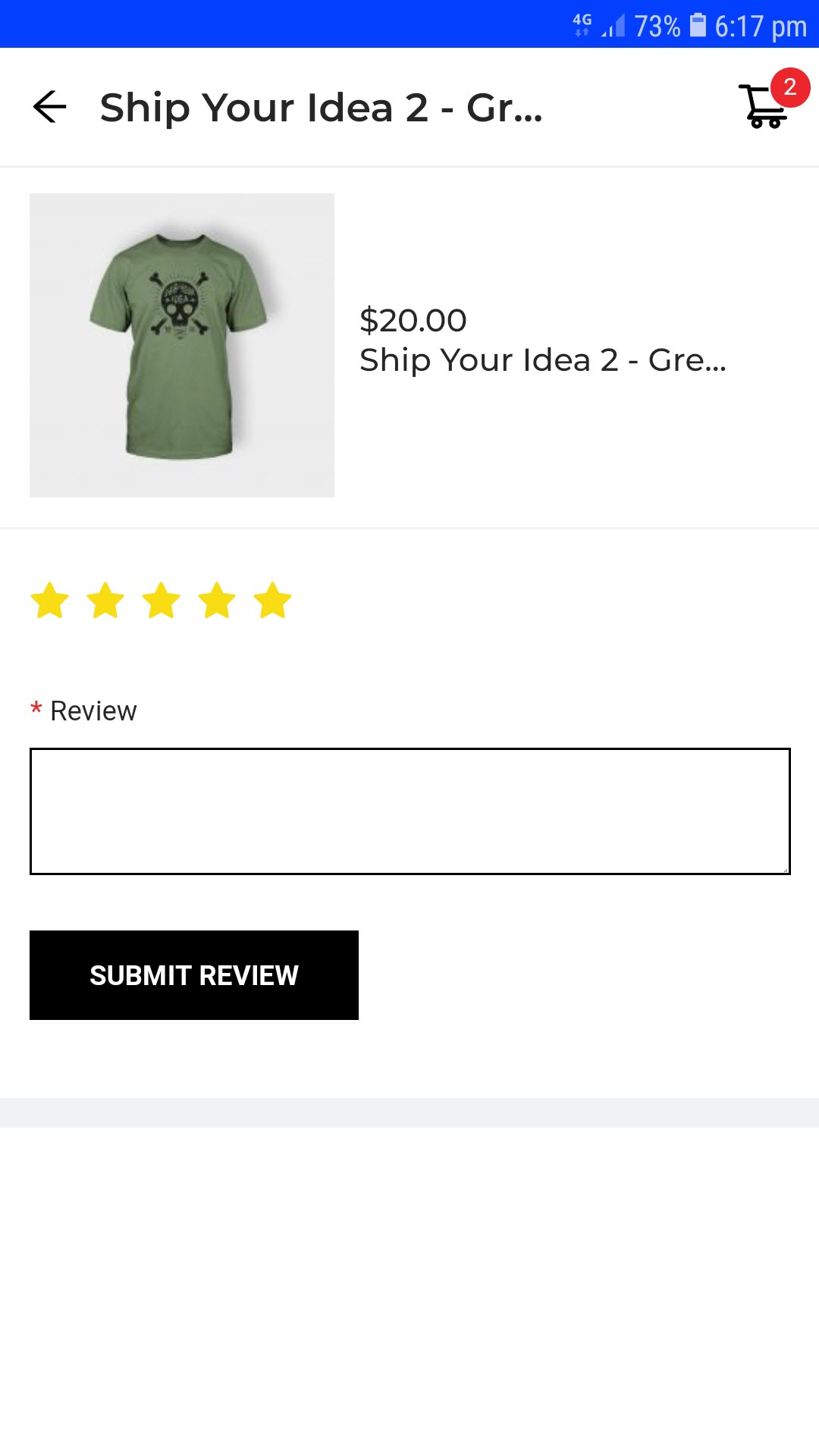 customer submit review product