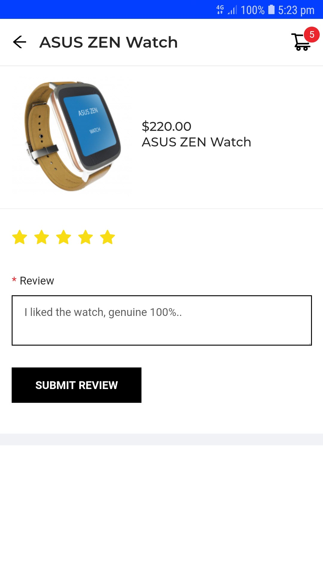 progressive web app for woocommerce review_product_page