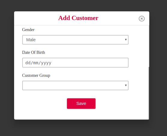 save new customer