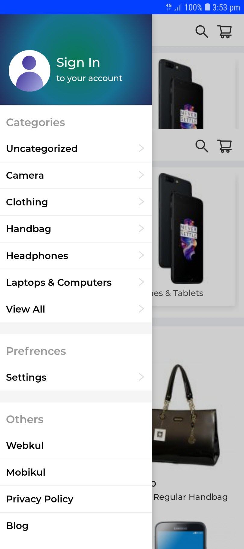 progressive web app for woocommerce sign_up