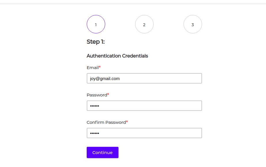 bagisto saas step1 registration
