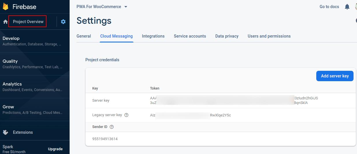 webkul-woocommerce-pwa -firebase-server-key